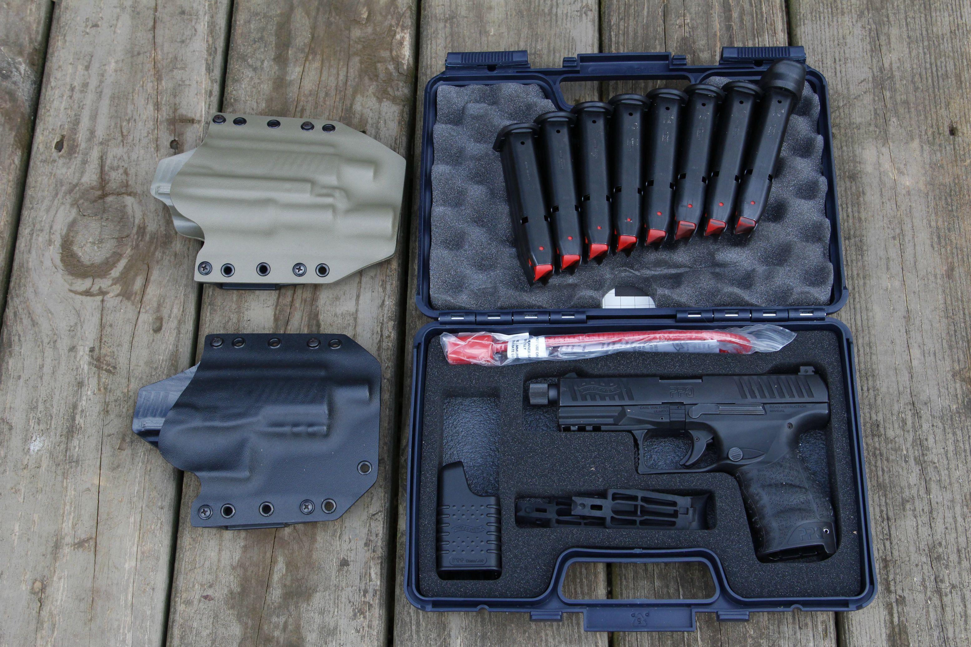 Walther PPQ M2 Navy (threaded) - 15 OEM magazines - Trijicon