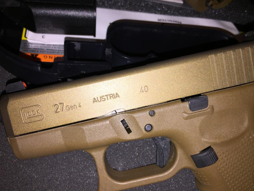 Item Gone Fs Fde Glock 26 27 Gen 4 Burnt Bronze Ammo Package