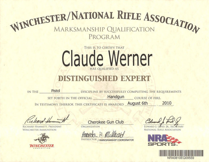 nra certificate template - nra defensive pistol qualification the outdoors trader