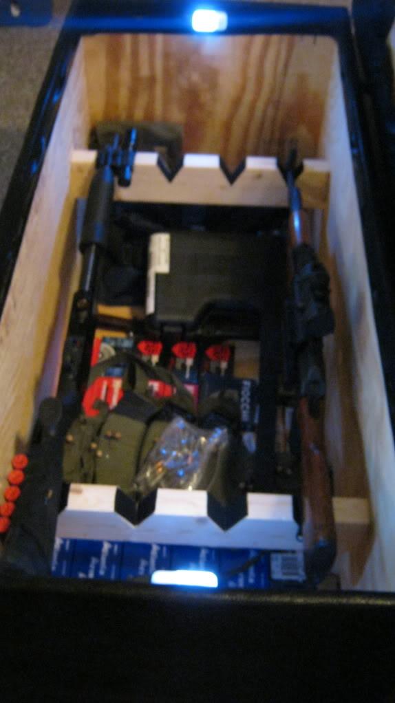 Marvelous Fs Ft Rifle Shotgun Storage Ottoman The Outdoors Trader Bralicious Painted Fabric Chair Ideas Braliciousco