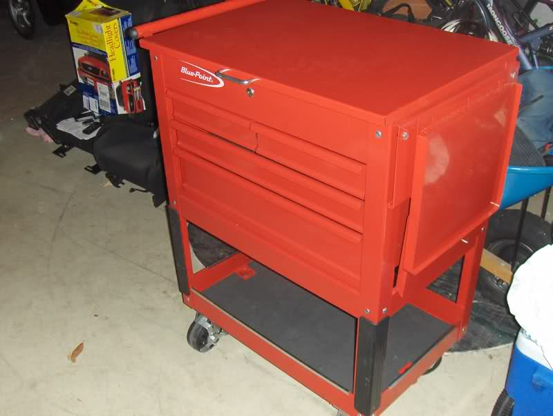 blue point tool box/ rolling cart - open to trades   the outdoors trader