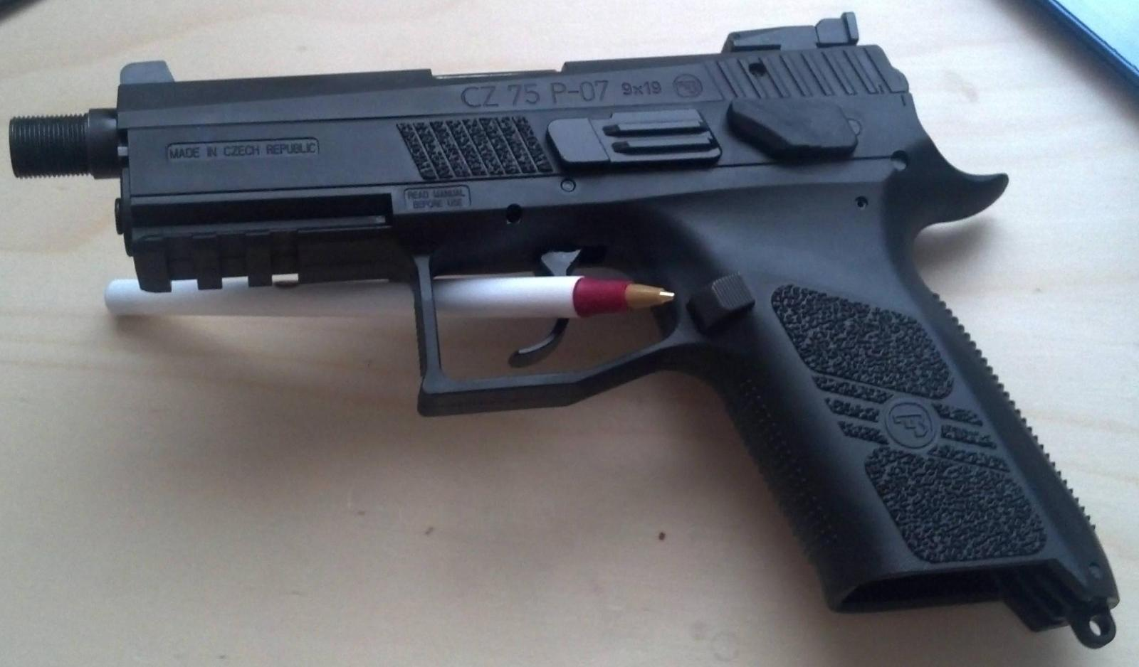 Cz 75 P07 duty with factory threaded barrel | The Outdoors