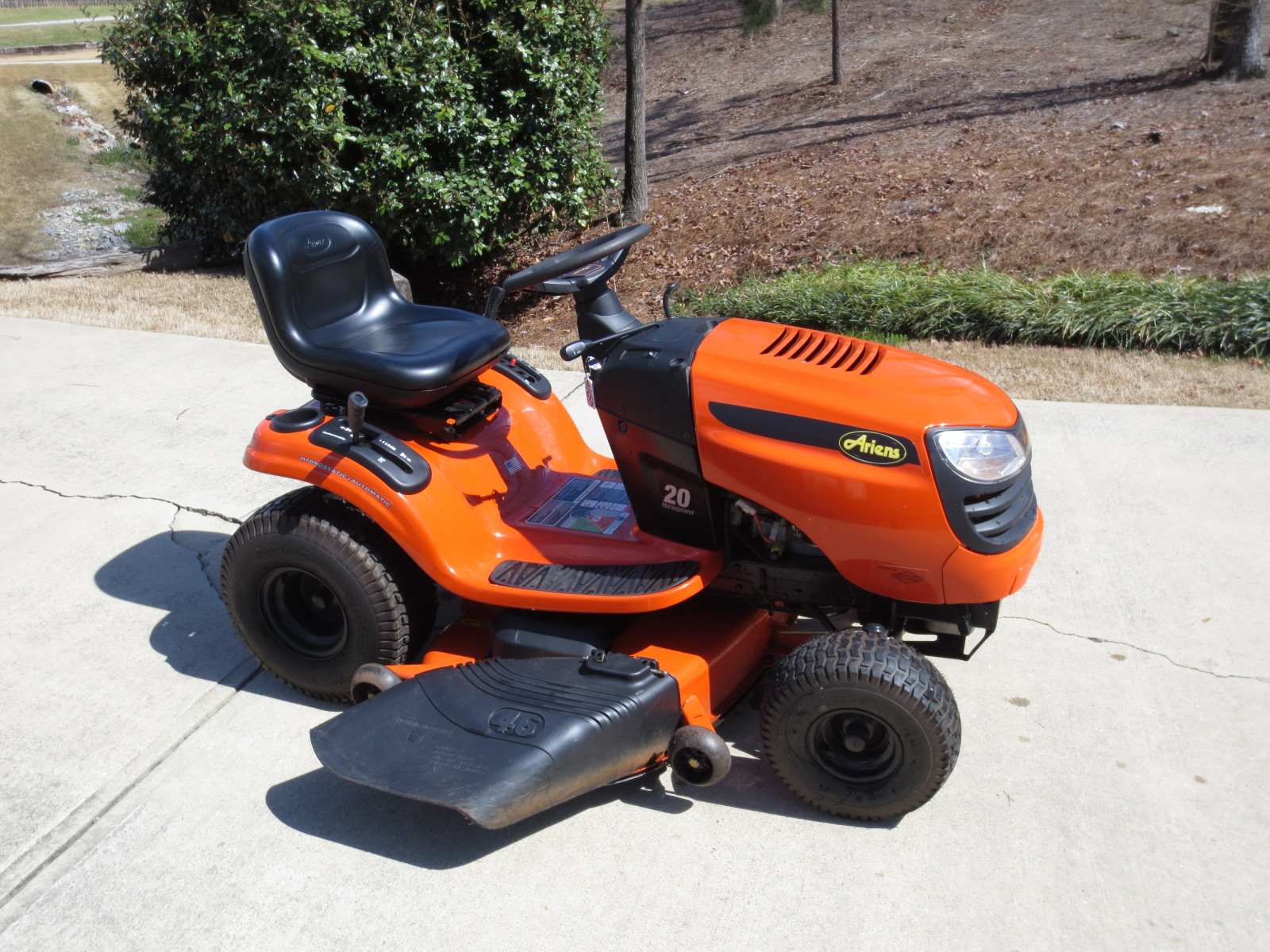 Ariens 20 Hp Lawn Tractor : North east ga item relisted fs ariens riding mower