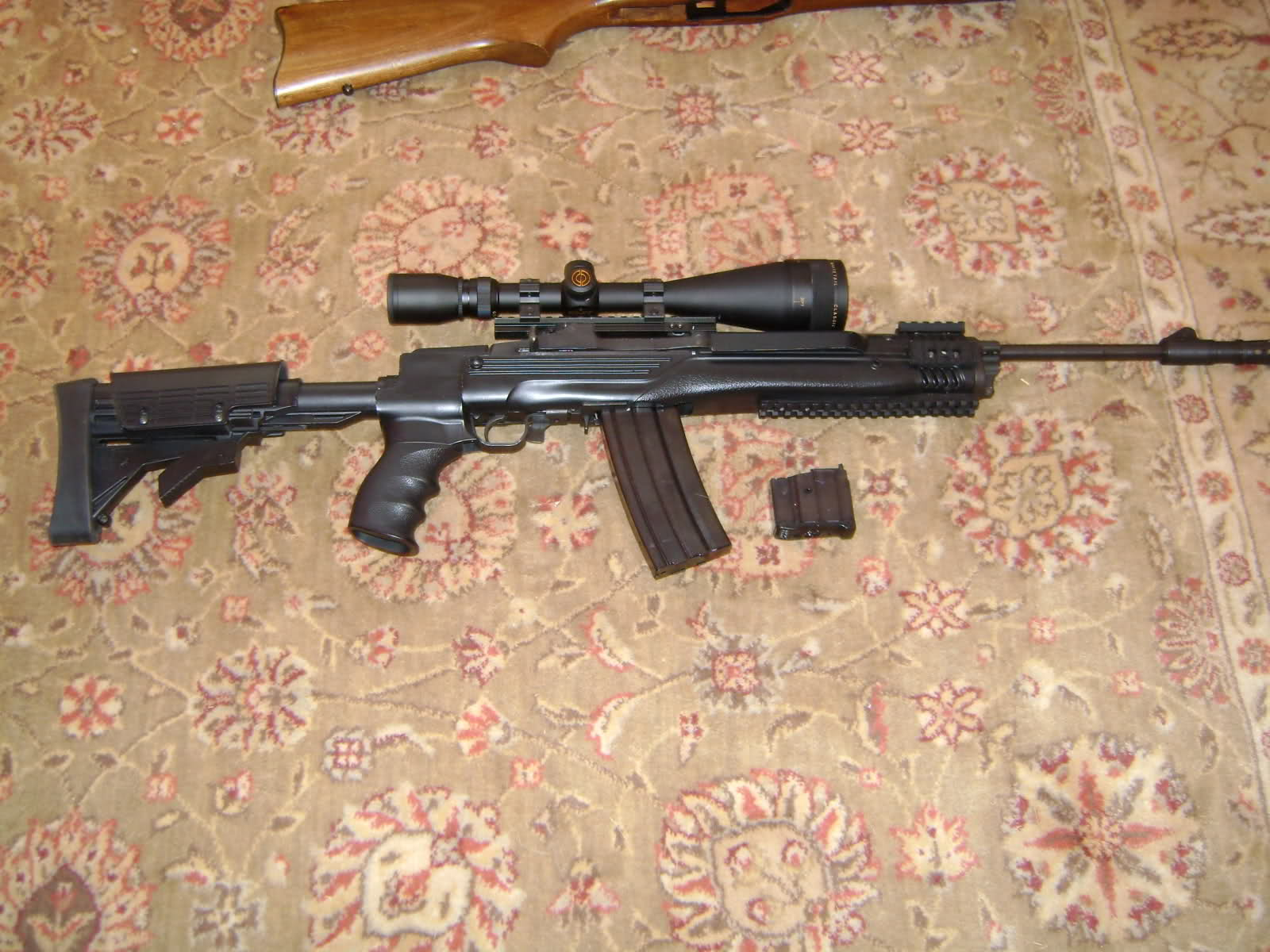 traded ruger mini 14 with ati tactical package scope mags etc