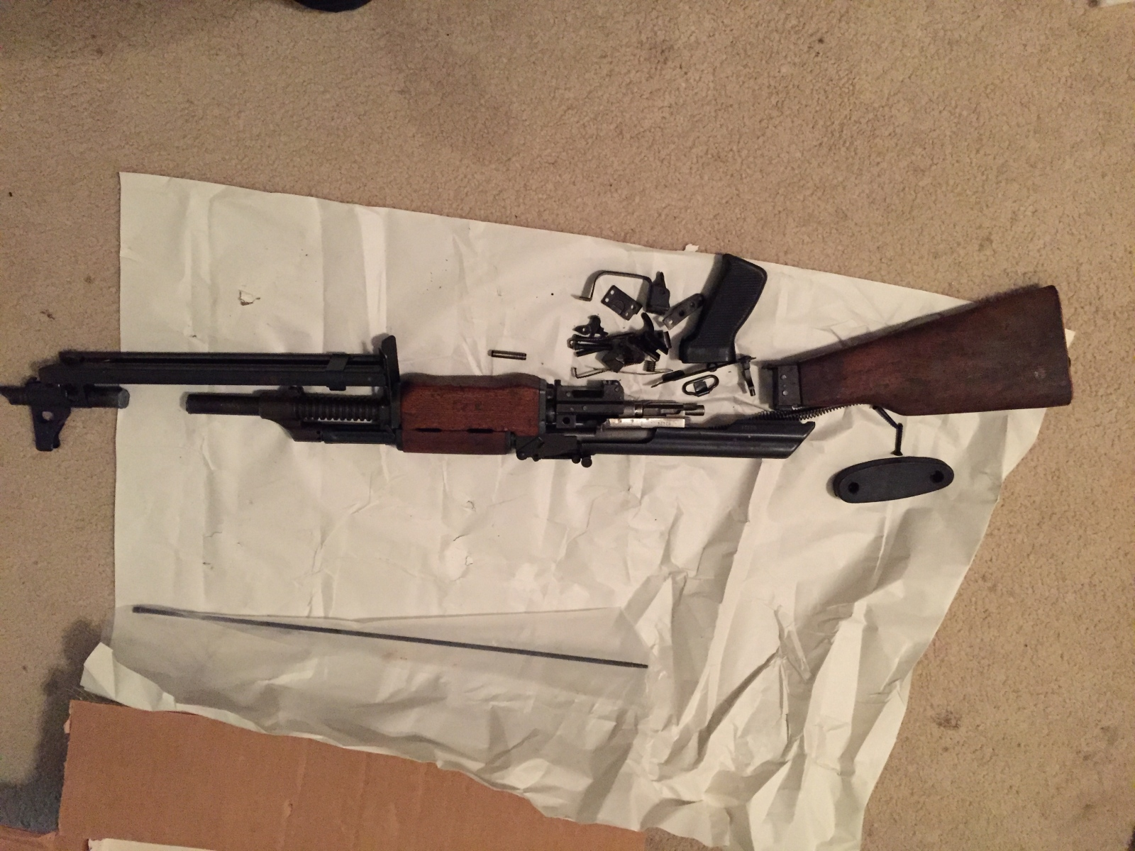 Yugoslavian M72 RPK parts kit with receiver and barrel! For Sale