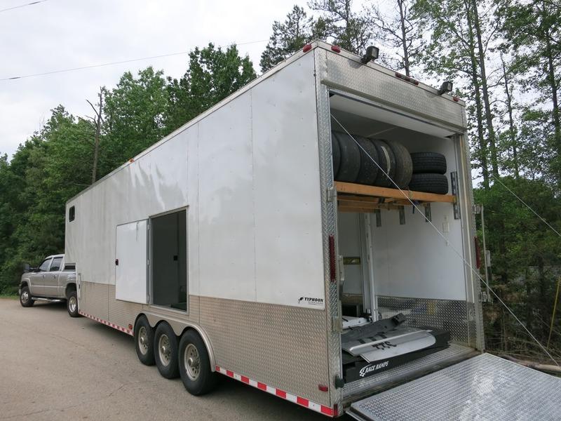Stacker Trailer Lift : Hurricane typhoon stacker enclosed trailer