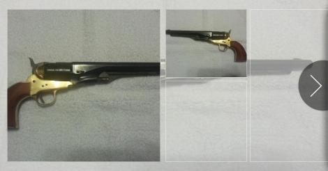 1860 Army (Armi San Marcos) Blackpowder Revolver For Trade   Old Ads