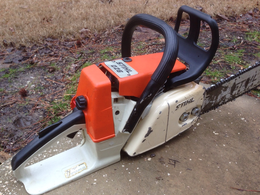 Stihl 026 Chainsaw For Runs Cuts And Oils Like It Should Maintained Very Well Sharp 18 Inch 325 Bar Chain Carb Just Overhauled