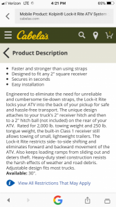 WTT Truck Ramps & Kolpin Lock-It Ride ATV System | The Outdoors Trader