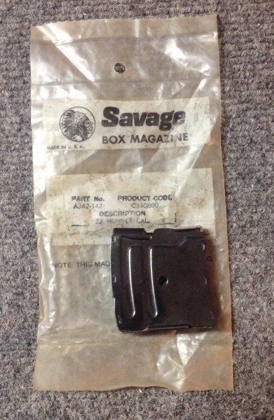 Fits Springfield 340 19H 325C 23D .22 Hornet 4 Round Magazine Savage 840