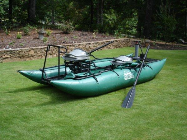 Fs creek company 1220 fly fishing pontoon boat the for Fly fishing pontoon