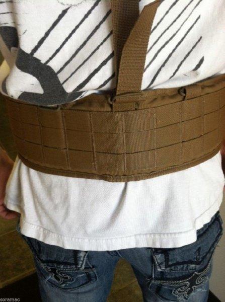 Fs Usmc Military Padded Sub Belt Warbelt W Suspenders