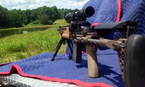 FS Springfield M1A Scout EBR Sage Chassis w/Leupold   The